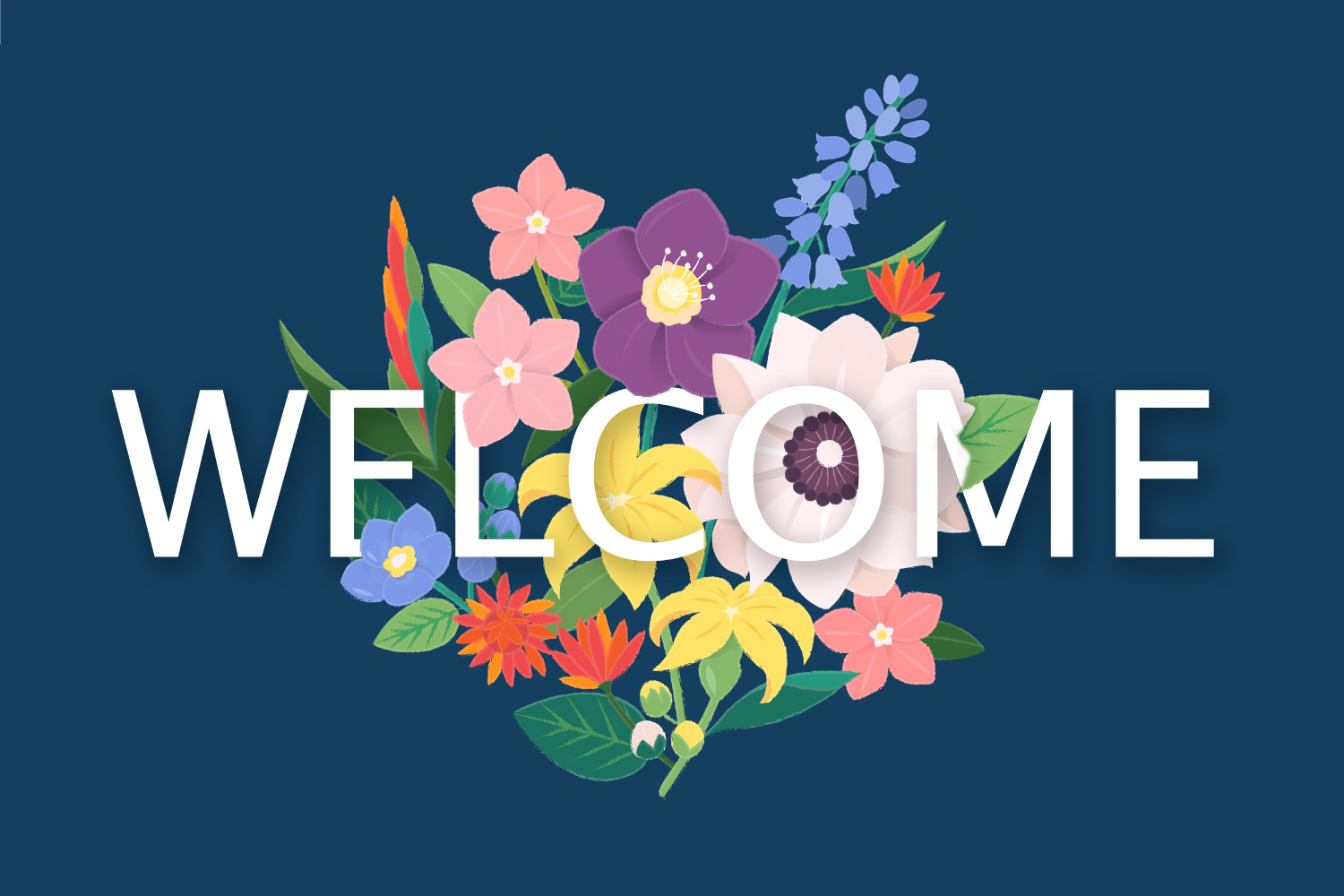 WELCOME over a bouquet of flowers to welcome patients to Vero Dental in Denver, CO